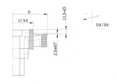 Gruppo regolabile per tenonatrice stondante singola - D.125