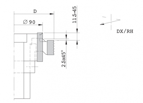 Gruppo regolabile per tenonatrice stondante singola - D.130