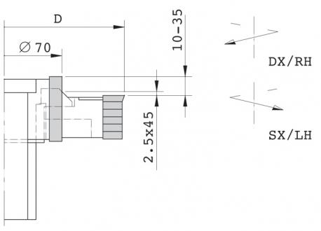 Gruppo regolabile per tenonatrice stondante doppia - D.125 Canotto