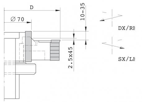 Gruppo regolabile per tenonatrice stondante doppia - D.125 ghiera