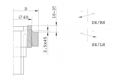 Gruppo regolabile per tenonatrice stondante doppia - D.80