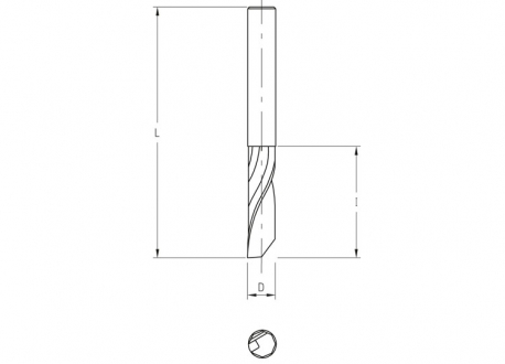 Frese elicoidali hw integrale z=1 (finitura)