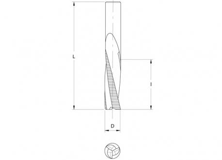 Frese elicoidali hw integrale z=3 (sgrossatura)