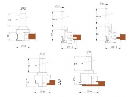 Frese pantografo per antine in legno