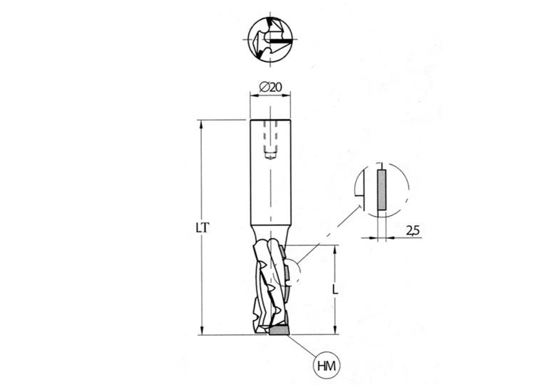 Fresa pantografo elicoidale (tipo economico).