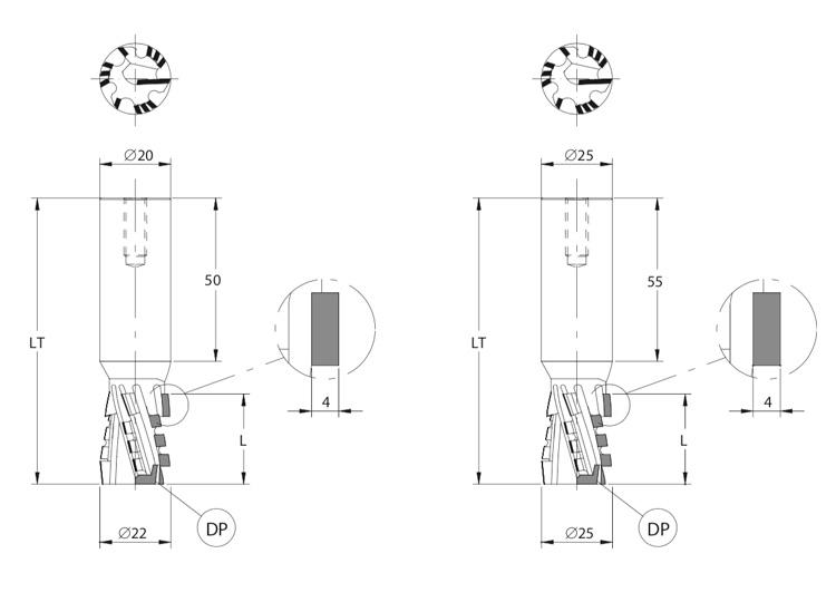 Fresa pantografo fora e contorna z= 3+3.