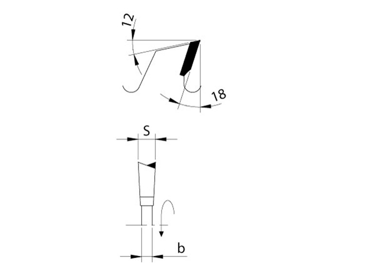Lama circolare universale tagli longitudinali