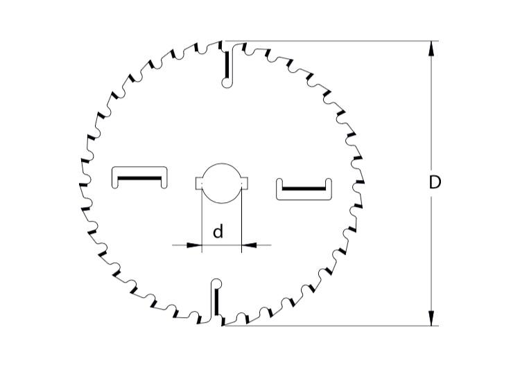 Lama circolare per tagli longitudinali e trasversali con rasanti