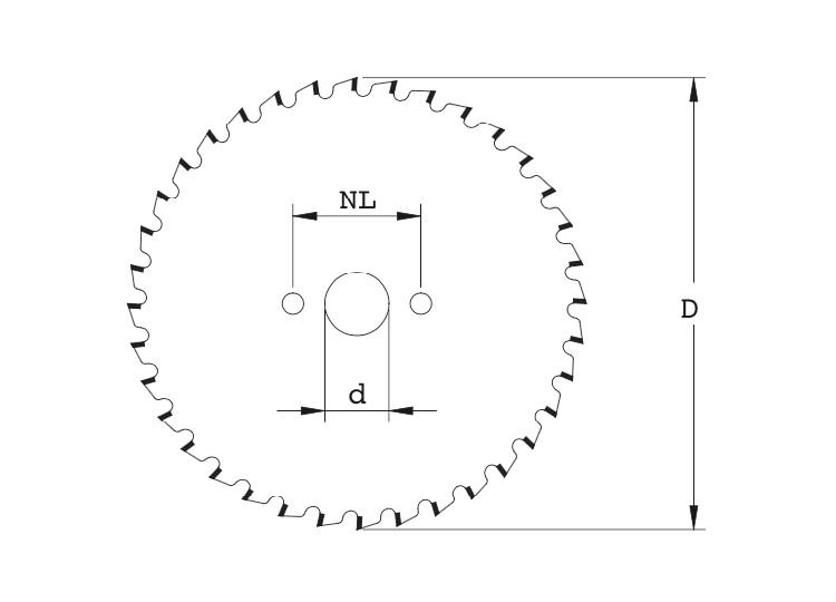 Lama circolare universale a spessore extra-sottile - coated