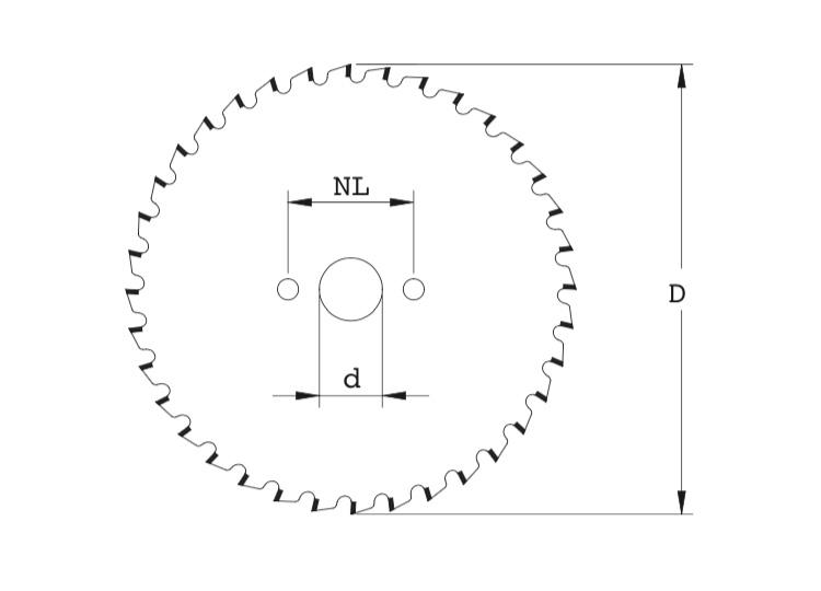 Lama circolare incisore per squadratrice