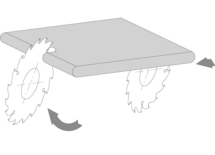 Lama incisore post-forming per sezionatrici