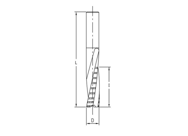 Frese elicoidali hw integrale z=3 (sgrossatura/finitura)