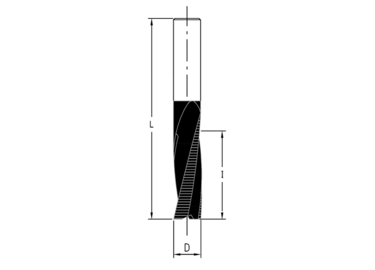 Frese elicoidali hw integrale z=3 (sgrossatura) rivestite bupdia