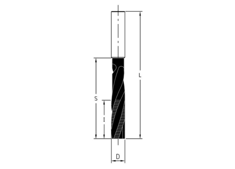 Frese elicoidali hw integrale z=3 per serrature rivestite bupdia
